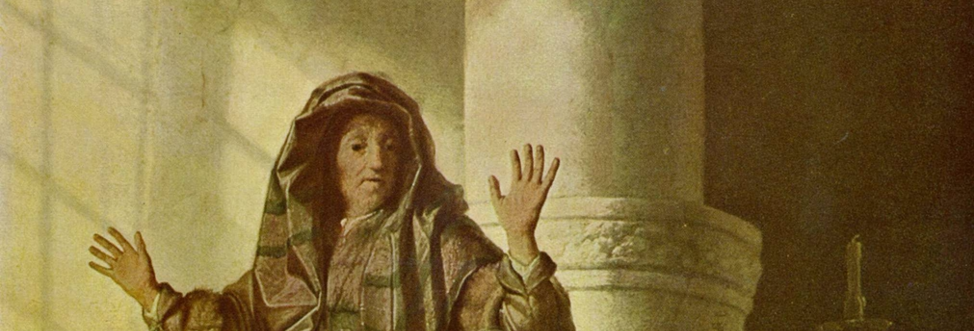 Rembrandt: Anna the prophetess