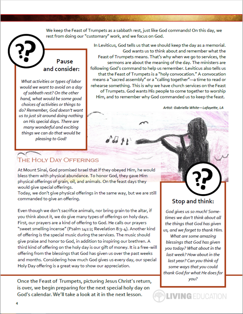 Trumpets lesson page 4