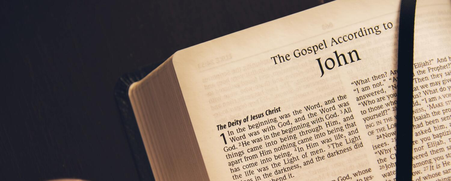 The Bible opened to John 1
